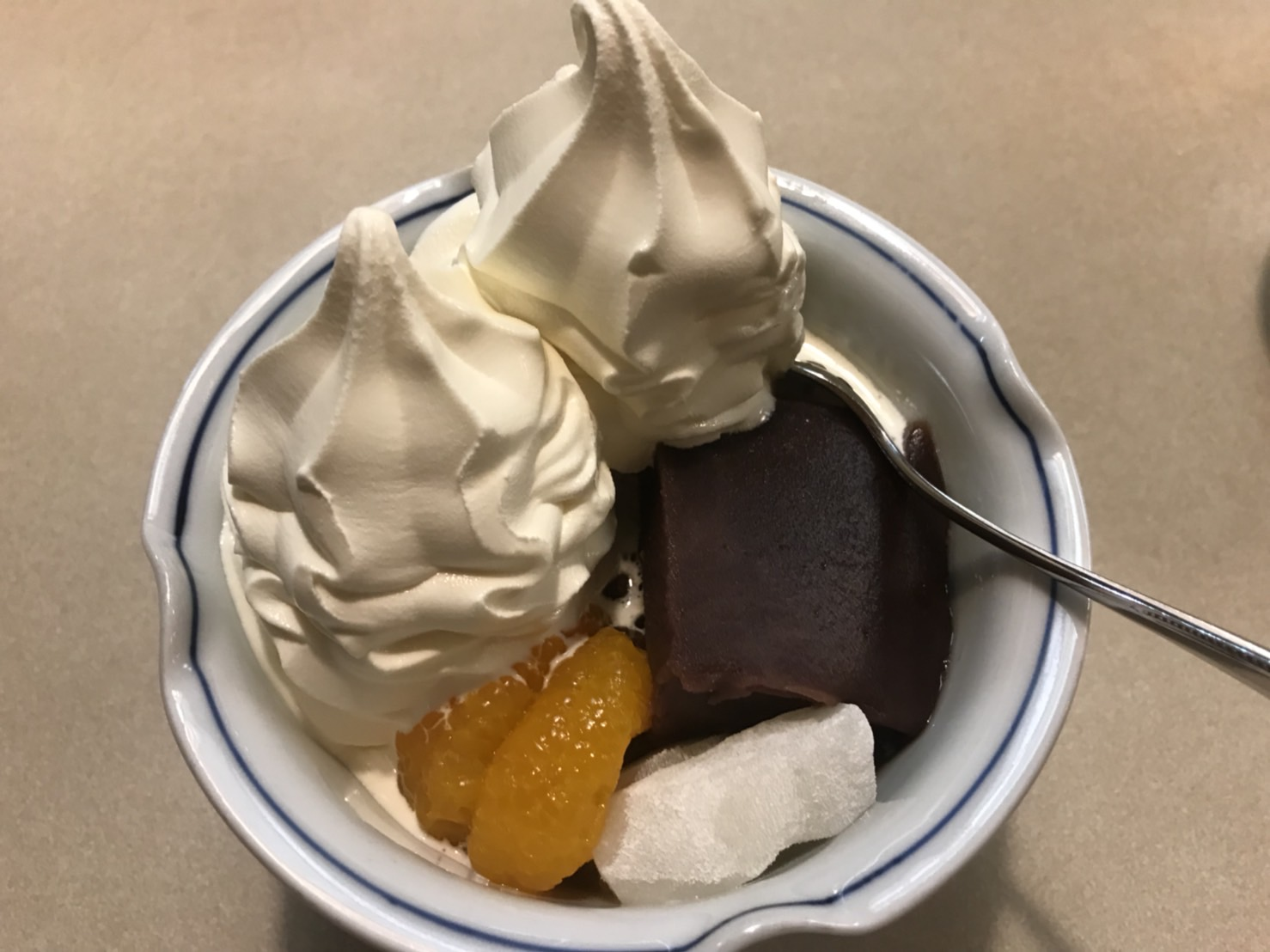 上野みはし・ダブルソフトクリームのクリームあんみつ・東京はスゴかった | Furublog