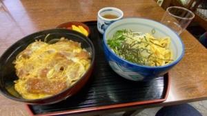 神戸元町・ランチ・倭(やまと)・カツ丼とうどんセット(深いです by 哲学者)